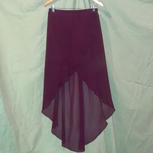 H&M Divided Chiffon High Low Tulip Skirt